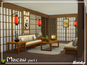 Sims 4 — Macau Construction Part 1 by Mutske — These type of windows, roomdividers and wallpanels are based on oriental