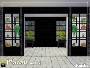 Sims 4 — Macau Construction Part 3 by Mutske — These type of windows, roomdividers and wallpanels are based on oriental