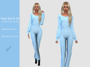 Sims 4 — PANT SUIT N 38 by pizazz — NEW MESH INCLUDED WITH DOWNLOAD Base game 05 colors / swatches HQ - LODS - MAPS
