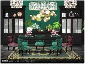 Sims 4 — Jao dining room by Severinka_ — A set of furniture for decoration dining room in the ArtDeco style. The set