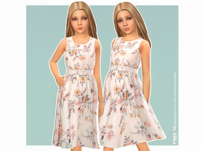 Sims 4 — Antonia Dress by lillka — Antonia Dress for Girls YOU NEED the free Holiday Celebration pack (update through