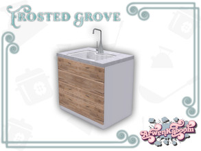 Sims 4 — Frosted Grove - Sink by ArwenKaboom — Base game sink in 4 recolors. You can find all items by searching
