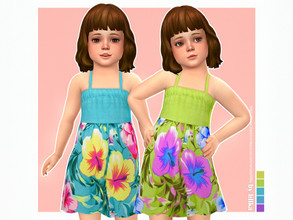 Sims 4 — Nika Dress by lillka — Nika Dress for Toddler Girls 5 swatches Base game compatible Custom thumbnail Hair by