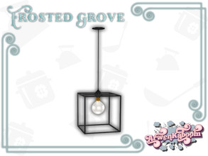 Sims 4 — Frosted Grove - Ceiling Lamp by ArwenKaboom — Base game ceiling lamp in 4 recolors. You can find all items by