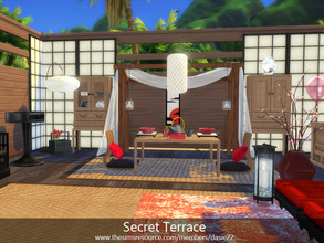 Sims 4 — Secret Terrace by dasie22 — Happy Valentine's Day! Please, use code bb.moveobjects on before you place the room.