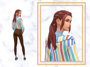 Sims 4 — Three Recolors trendy hairstyle for your female sims by SupriSims4 — 13 naturals colors 9 unnatural colors 6