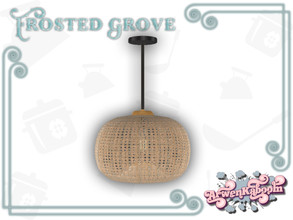 Sims 4 — Frosted Grove - Ceiling Lamp II by ArwenKaboom — Base game ceiling light. You can find all items by searching