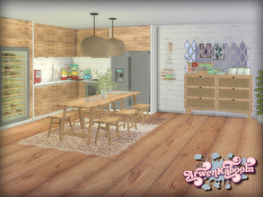 Sims 4 — Frosted Grove V by ArwenKaboom — This is fifth set out of five and it consists of dining items. You can find all
