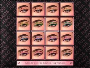 Sims 4 — JUL_HAOS [COSMETIC] [PATREON] EYELINER #89 by Jul_Haos — OPEN ACCESS - CATEGORY: EYELINER - COLORS: 16 - GENDER: