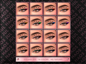Sims 4 — JUL_HAOS [COSMETIC] [PATREON] EYELINER #90 by Jul_Haos — OPEN ACCESS - CATEGORY: EYELINER - COLORS: 16 - GENDER: