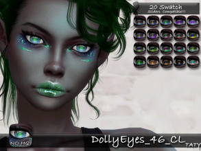 Sims 4 — [Ts4]Taty_DollyEyes_46_CL by tatygagg — - Female, Male - Human, Alien - Toddler to Elder - Hq Compatible -
