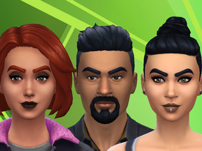 Sims 4 — Emperor Eyebrows by Alifya2 — They are thick, they are lush, what more could you want. Swatches: 18 EA colours