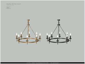 Sims 4 — [Agata diningroom] - ceiling lamp SW by Severinka_ — Ceiling lamp for SHORT WALLS From the set 'Agata dining