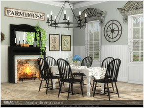 Sims 4 — Agata dining room by Severinka_ — A set of furniture and decor for decoration dining room in the Farmhouse