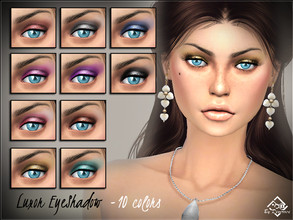 Sims 4 — Luxor Eyeshadows by Devirose — Shimmer and glitter for an eyeshadow with strong tones, ispired by Egypt, ideal