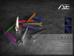 Sims 4 — Ade - Awake Hair Clips (Hat) by Ade_Darma — **DESIGNED TO ONLY FIT AWAKE HAIRSTYLES BY ADE** Awake Hair Clips 10