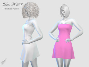 Sims 4 — DRESS N 297 by pizazz — NEW MESH INCLUDED WITH DOWNLOAD Base game 15 colors / swatches HQ - LODS - MAPS