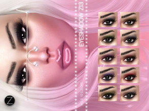 Sims 4 — EYESHADOW Z13 by ZENX — -Base Game -All Age -For Female -10 colors -Works with all of skins -Compatible with HQ