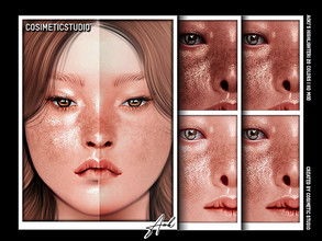 Sims 4 — COSIMETIC STUDIO | Highlighter - AOKI by cosimetic — - Teen to elder. - Contains [ 20 ] colors in HQ texture. -