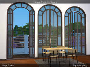 Sims 4 — Darma Part.1 - Doors by Mincsims — These arch shapes bring elegance to your Sim's home. The set consists of 6