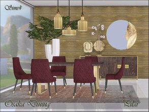 Sims 4 — Osaka Dining by Pilar — Timeless elegance with an oriental touch