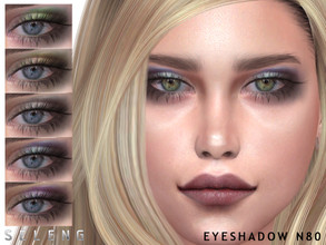 Sims 4 — Eyeshadow N80 by Seleng — Eyeshadow for female 8 colours Custom Thumbnail HQ Compatible *Compatible with makeup