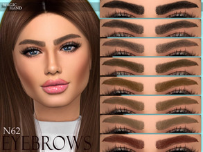 Sims 4 — [MH] Eyebrows N62 by MagicHand — --12 available colors-- --Compatible with HQ settings-- --CAS thumbnail--
