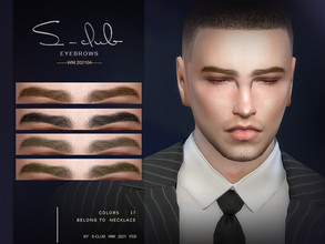 Sims 4 — S-Club WM ts4 Eyebrows 202104 by S-Club — Eyebrows, 17 swatches, hope you like, thank you!