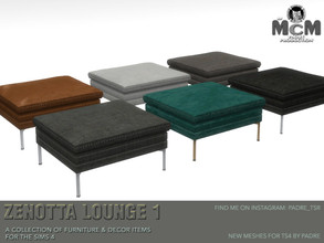Sims 4 — Padre Zenotta Lounge Footstool by Padre — Contemporary and cool, this set of stylish furniture and decor items