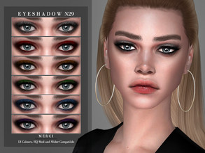 Sims 4 — Eyeshadow N29 by -Merci- — New Eyeshadow for Sims4! -Eyeshadow for both genders and teen-elder. -No allow for