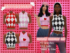 Sims 4 — [B0T0XBRAT] Forever Together Sweater Vest Top by B0T0XBRAT — Hi bunnies! Heres a little piece from my