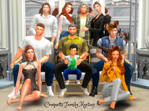 Sims 4 — Couquetts Family Meetting PosePack by couquett — Beautiful poses for sims, I hope you like all you will need to