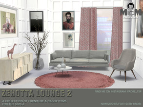Sims 4 — Padre Zenotta Lounge 2 by Padre — Contemporary and cool, this set of stylish furniture and decor items in
