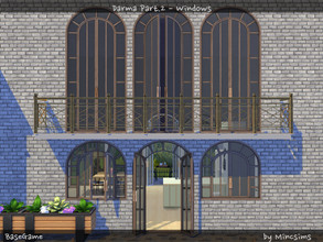 Sims 4 — Darma Part.2 - Windows by Mincsims — These arch shapes bring elegance to your Sim's home. This is a part of