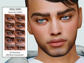 Sims 4 — Eyebrows NB21 by MSQSIMS — - Base Game - 10 Swatches - All Ages - Female/Male - HQ Mod Compatible - Custom