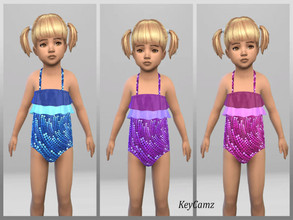 Sims 4 — KeyCamz Toddler Girl's Swimsuit 0218 (Seasons Needed) by ErinAOK — Toddler Girl's Swimsuit 6 Swatches