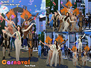 Sims 4 — Carnaval (Pose pack) by Beto_ae0 — Poses to enjoy Carnival, I hope you like them To use the poses you need the