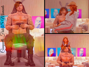 "Sims 4 — Couquetts Friki""s Moments by couquett — Hi guys This a pose for use with your sims How to used? there are"