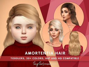 Sims 4 — SonyaSims Amortentia Hair (Toddlers) by SonyaSimsCC — - Medium-length wavy hair with bangs (fringe). Hope you