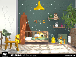 Sims 4 — Stibium Toddler Room by wondymoon — Stibium toddlers sets! Bedroom part; with bed, high chair, potty chair and
