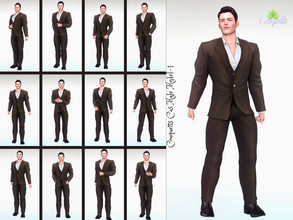 Sims 4 — Couquetts Model Male( posepack for cas) by couquett — - CAS pose replacement for Active Trait - 13 cas poses -