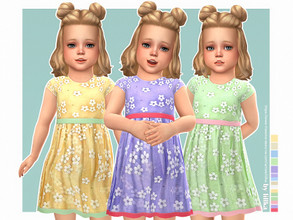 Sims 4 — Cecilia Dress by lillka — Cecilia Dress for Toddler Girls 10 swatches Base game compatible Custom thumbnail Hair