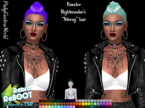 Sims 4 — Retro ReBoot Recolor of Nightcrawler's Strong hair by PinkyCustomWorld — Inspired by the 80's punk rock style -