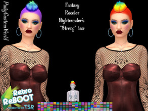 Sims 4 — Retro ReBoot Fantasy Recolor of Nightcrawler's Strong hair by PinkyCustomWorld — Inspired by the 80's punk rock
