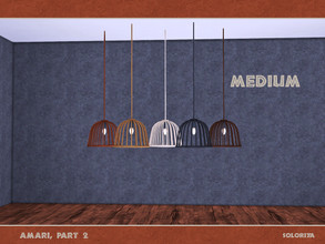 Sims 4 — Amari, part 2. Ceiling Light (medium) by soloriya — Ceiling light, medium version. Part of Amari Part Two set. 5