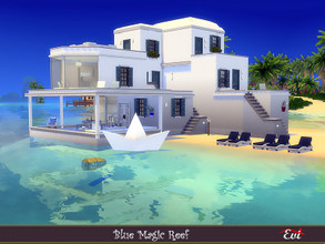 Sims 4 — Magic blue reef by evi — Summer vacations? Yes! Three bedroom beach house for this purpose.