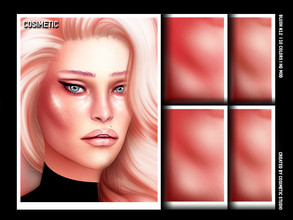 Sims 4 — COSIMETIC Blush N12 by cosimetic — - This blush can use on all genders and from teen to elder. - Contains [10]