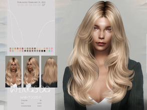 Sims 4 — WINGS-TO0215 by wingssims — Colors:36 All lods Compatible hats Hope you like it!