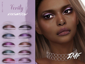 Sims 4 — IMF Verity Eyeshadow N.186 by IzzieMcFire — Verity Eyeshadow N.186 contains 10 colors in hq texture. Standalone