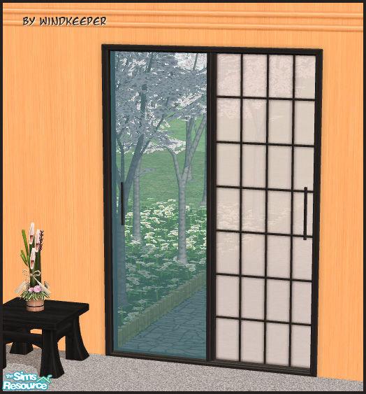 Sliding Doors The Sims 4: Windkeeper's Tokyo 2t Side Screen Sliding Door